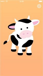 Cow Baby Rattle