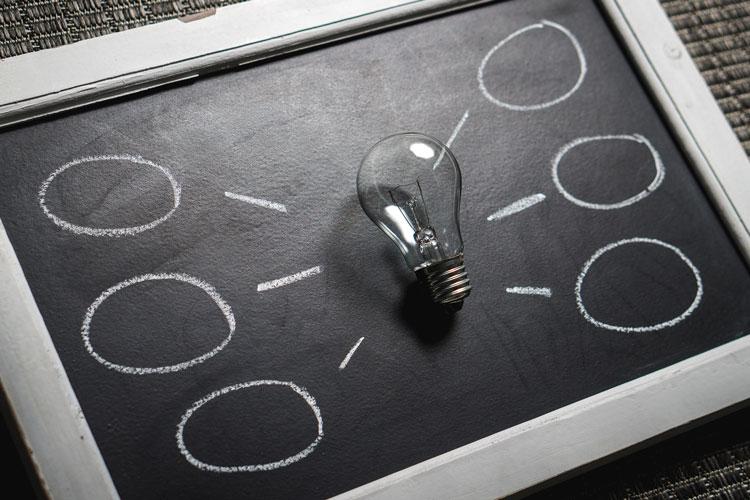 Idea for Marketing Lightbulb on frame