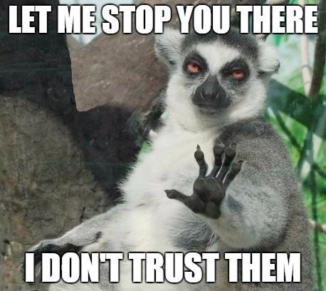 I don't trust them meme