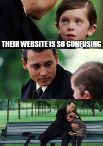 confusing website meme