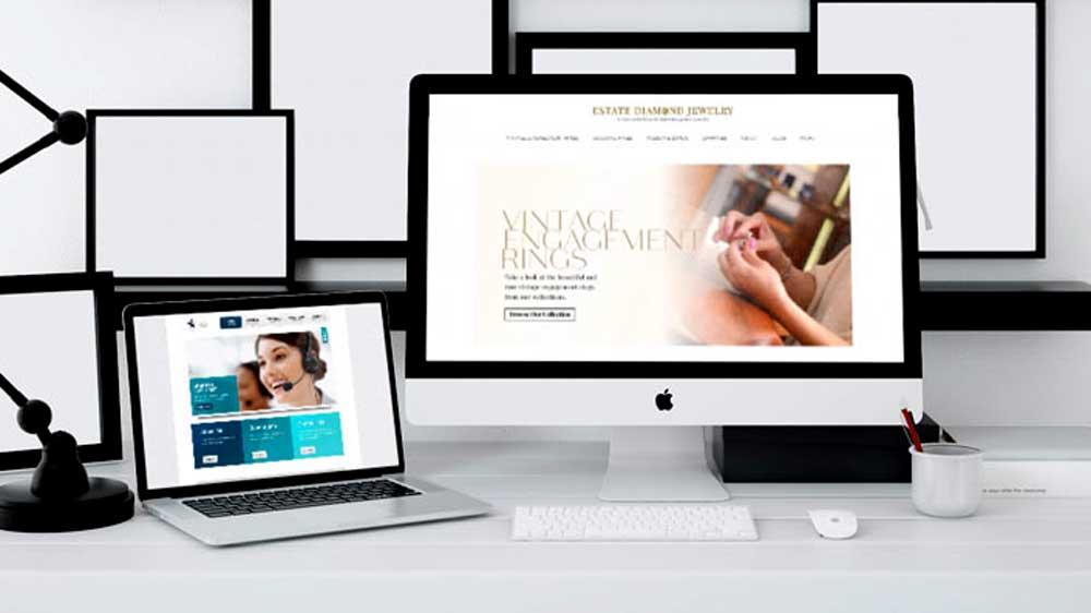 Estate Diamond Jewelry Website on Computer