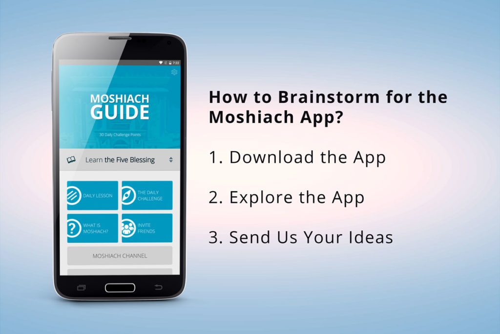 Brainstorming for the Moshiach App